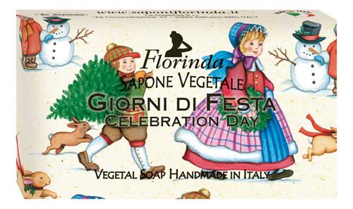 Фото - Натуральное мыло Merry Christmas Giorni Di Fiesta 100г: Мыло 100г натуральное мыло passione di frutta uva e mirtillo 100г мыло 100г