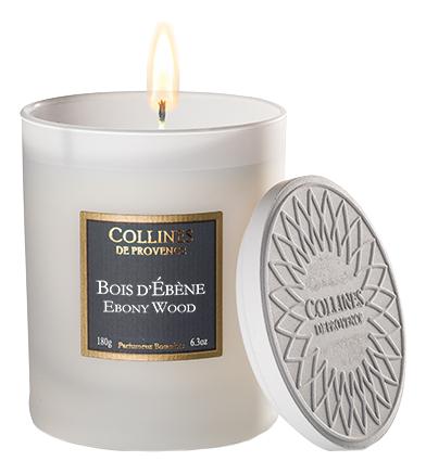 Купить Ароматическая свеча Ebony wood 180г (эбеновое дерево), Collines de Provence