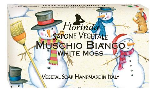 Натуральное мыло Merry Christmas Muschio Bianco 100г