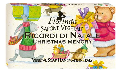 Фото - Натуральное мыло Merry Christmas Ricordi Di Natale 100г: Мыло 100г натуральное мыло passione di frutta uva e mirtillo 100г мыло 100г