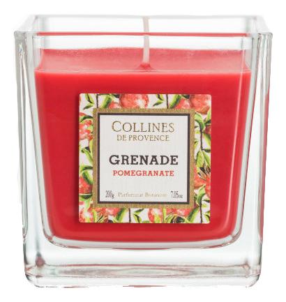 Купить Ароматическая свеча Pomegranate 200г (гранат), Collines de Provence