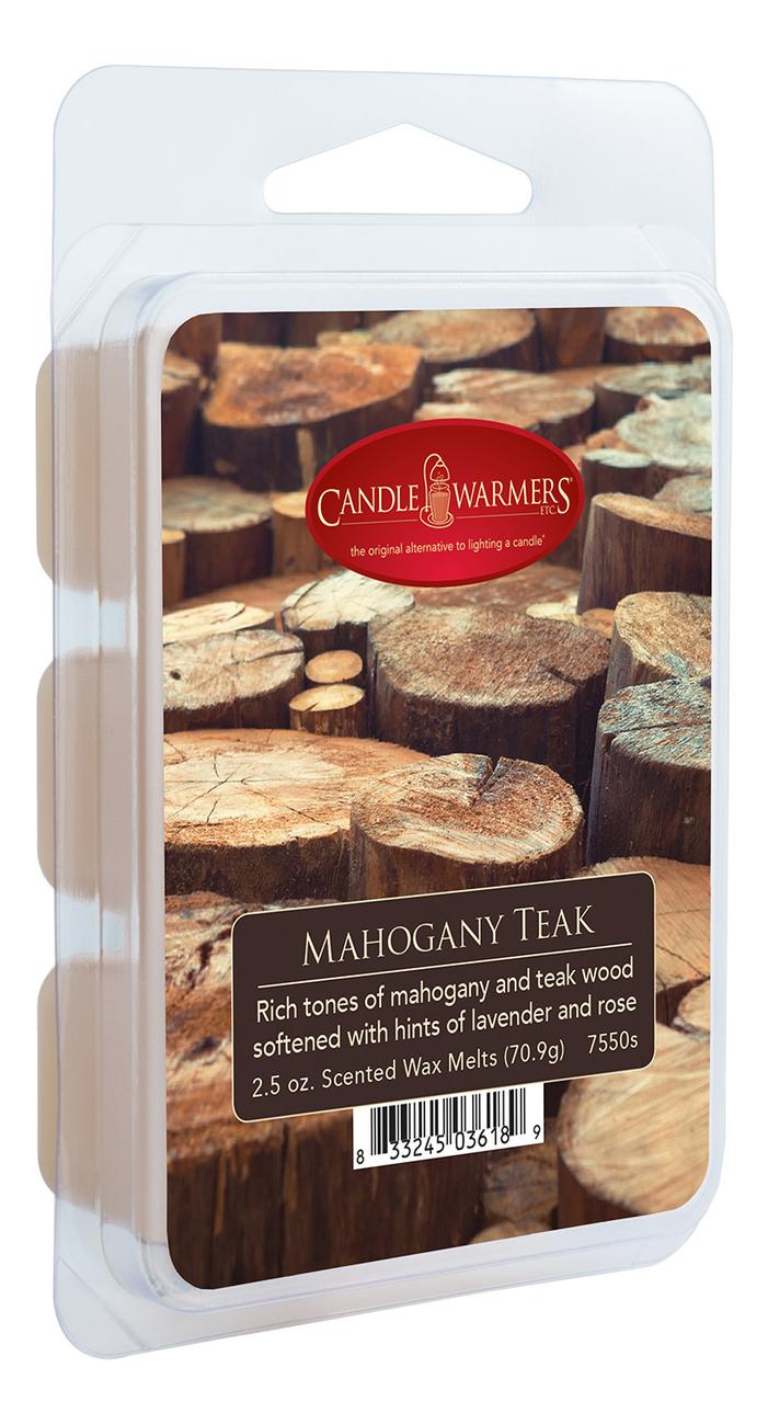 Купить Наполнитель для воскоплавов Mahogany Teak Wax Melts 70, 9г, Candle Warmers