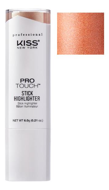 Кремовый хайлайтер для лица в стике Protouch 6г: Halo Pearl kiss new york professional палетка хайлайтеров для стробинга halo strobing light 3 х 5 27 г
