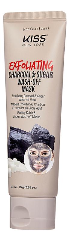 Отшелушивающая маска-пилинг с сахаром и углем Exfoliating Charcoal & Sugar Wash-Off Mask 75г