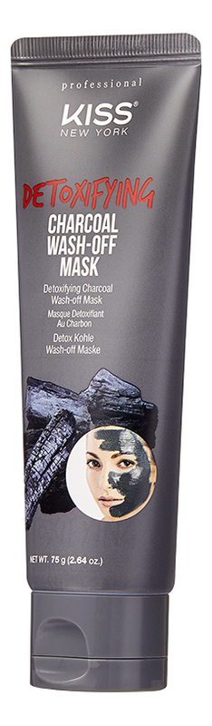 Смываемая детокс-маска с углем Detoxifying Charcoal Wash-Off Mask 75г детокс маска для лица смываемая с углем kiss new york professional charcoal wash off mask 75 мл