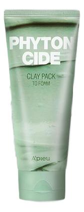 Маска-пенка для умывания Phytoncide Clay Pack To Foam 100г a pieu маска пенка глиняная phytoncide clay pack to foam 100 г