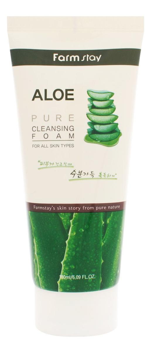 Пенка для умывания с экстрактом алоэ Aloe Pure Cleansing Foam 180мл пенка очищающая с экстрактом алоэ aloe cleansing foam 180мл