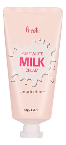 Крем для лица на основе молочных протеинов осветляющий Pure White Milk Cream: Крем 50г недорого