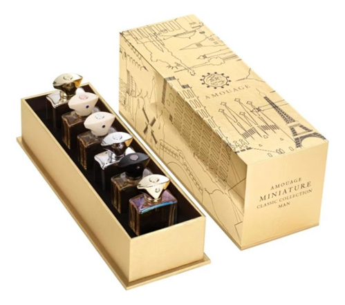 Amouage Miniature Collection Classic Mens: парфюмерная вода 6*7,5мл (Gold, Dia, Silver, Lyric, Jubilation XXV, Beloved)