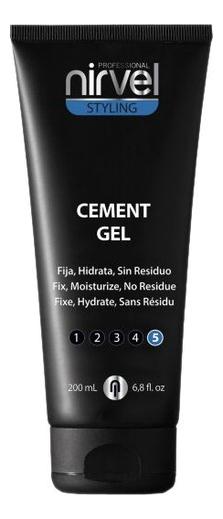 Купить Гель для волос экстрасильной фиксации Цемент Styling Cement Gel 200мл, Nirvel Professional