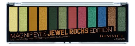 Купить Палетка теней Magnif'Eyes Edition 14г: 009 Jewel rocks, Rimmel