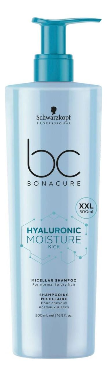 Фото - Мицеллярный шампунь для волос BC Hyaluronic Moisture Kick: Шампунь 500мл schwarzkopf кондиционер мицеллярный очищающий moisture kick 500 мл