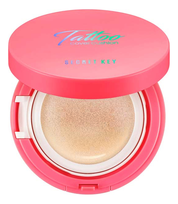 Кушон для лица Tattoo Cover Cushion Pink Edition SPF47 PA++ 14г: 23 Natural Beige