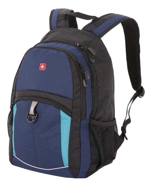 Рюкзак 3191203408 (синий/черный/бирюзовый)