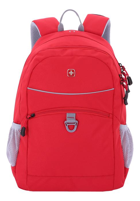 Рюкзак 6651114408 (красный/серый)