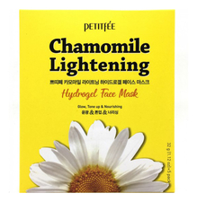 Petitfee Гидрогелевая маска экстрактом ромашки Chamomile Lightening Hydrogel Face Mask