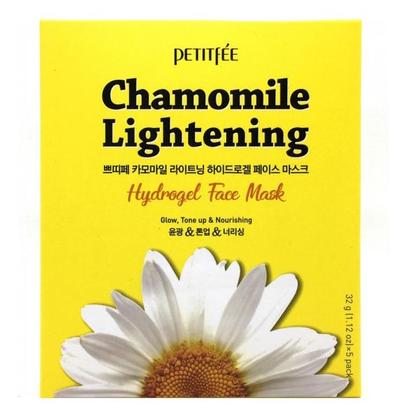Купить Гидрогелевая маска экстрактом ромашки Chamomile Lightening Hydrogel Face Mask: Маска 32г, Petitfee