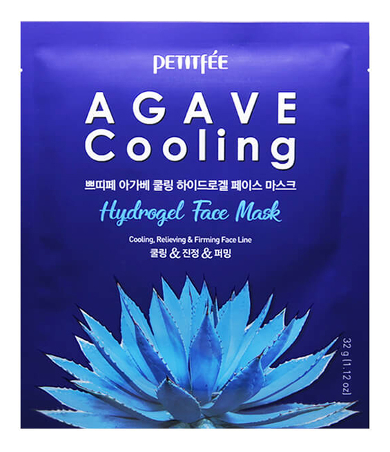 Охлаждающая гидрогелевая маска с экстрактом агавы Agave Cooling Hydrogel Face Mask: Маска 32г фото