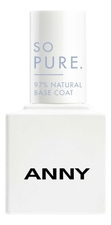 ANNY Лак-база для ногтей So Pure Natural Base Coat 15мл
