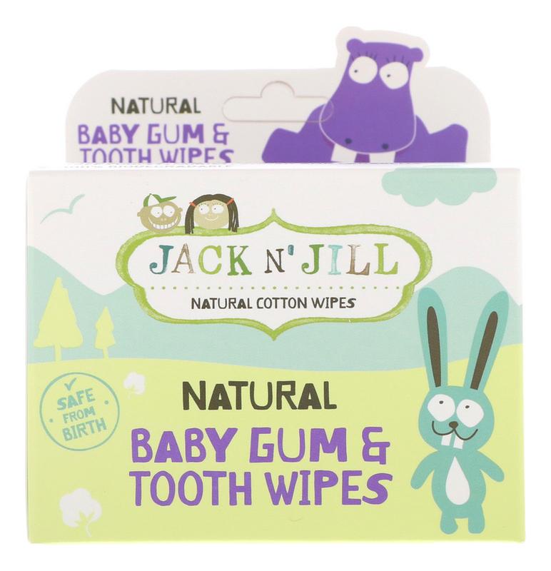 Детские салфетки для полости рта с ксилитом Natural Baby Gum & Tooth Wipes 25шт