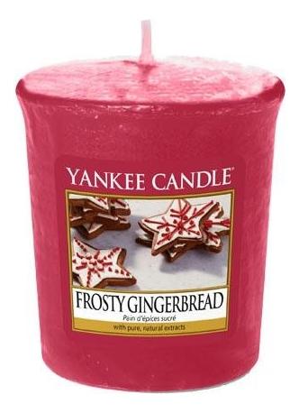 Ароматическая свеча Frosty Gingerbread: Свеча 49г ароматическая свеча after sledding свеча 49г