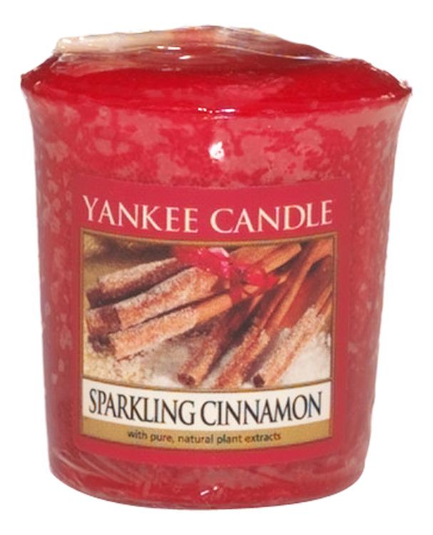 Купить Ароматическая свеча Sparkling Cinnamon: Свеча 49г, Yankee Candle