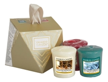 Yankee Candle Набор свечей 3*49г (Icy Blue Spruce + Winter Wonder + Christmas Magic)