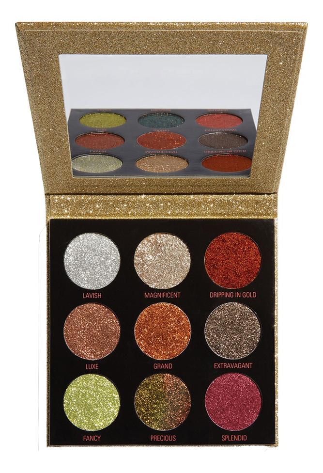 Палетка глиттеров для век Pressed Glitter Palette 10,8г: Midas Touch