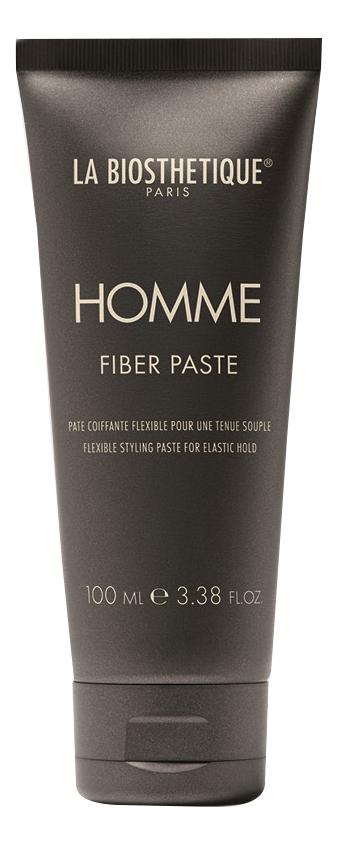 Моделирующая паста для волос с атласным блеском Homme Fiber Paste 100мл, La Biosthetique  - Купить