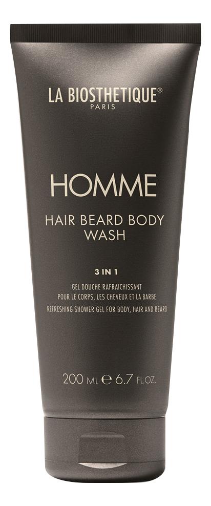 Фото - Очищающий гель для тела, волос и бороды Homme Hair Beard Body Wash: Гель 200мл нежный гель для купания newborn pure purifying body wash 200мл