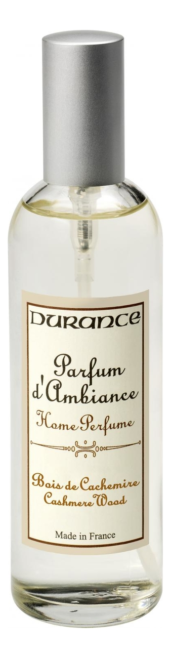 Купить Ароматический спрей для дома Home Perfume Cashmere Wood 100мл (дерево кашмира), Durance