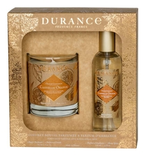 Durance Набор Orange Cinnamon (свеча Perfumed Natural Candle 180г + спрей для дома Room Spray 100мл) апельсин и корица