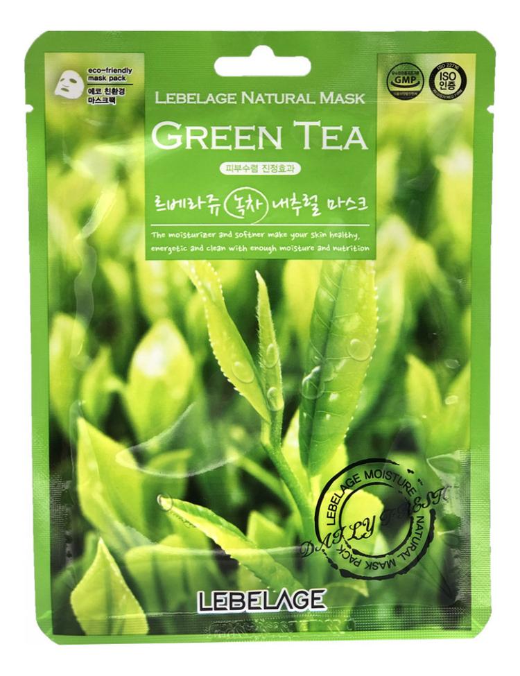 Тканевая маска для лица с экстрактом зеленого чая Green Tea Natural Mask 23мл lebelage тканевая маска для лица с коэнзимом q10 natural mask 23г