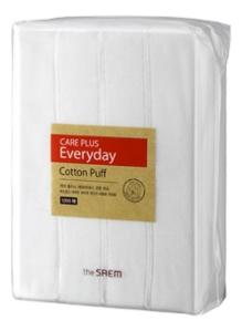 Спонжи косметические из 100% хлопка Care Plus Everyday Cotton Puff 1200шт