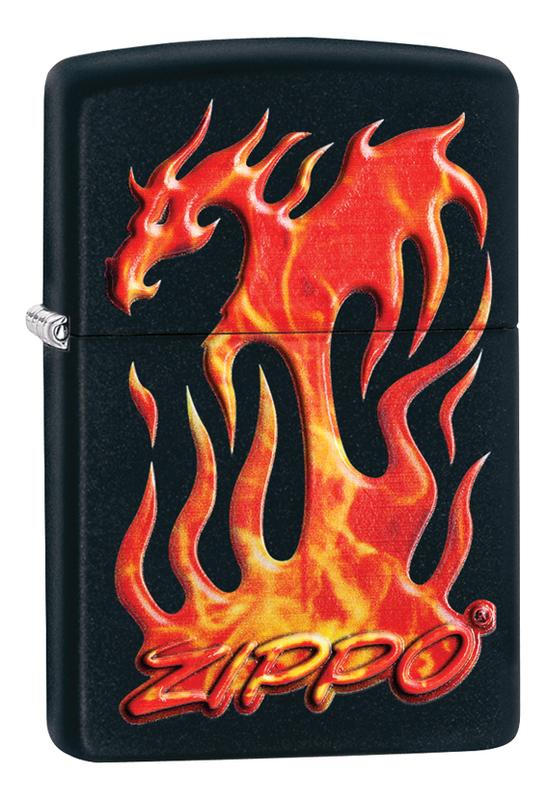 Купить Зажигалка бензиновая Classic Flaming Dragon Design 29735, Zippo