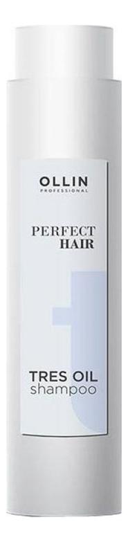 Купить Восстанавливающий шампунь для волос Perfect Hair Tres Oil Shampoo 400мл, OLLIN Professional