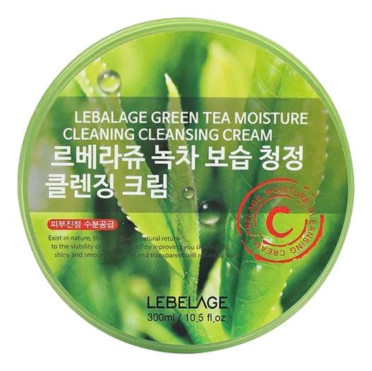 Купить Крем для лица с коллагеном и экстрактом зеленого чая Green Tea Moisture Cleaning Cleansing Cream 300мл, Lebelage