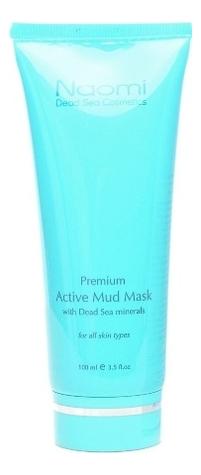 Активная грязевая маска для лица с минералами Мертвого моря Premium Active Mud Mask With Dead Sea Minerals 100мл маска для лица naomi dead sea cosmetics naomi dead sea cosmetics na035lwfxom2