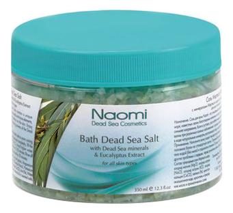 Соль Мертвого моря с экстрактом эвкалипта Bath Dead Sea Salt With Dead Sea Minerals & Eucalyptus Extract 350мл фото