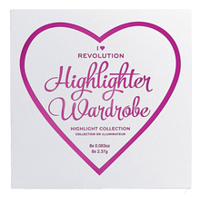 Makeup Revolution Палетка хайлайтеров I Heart Revolution Highlighter Wardrobe 10г