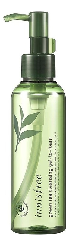 Очищающий гель для лица с зеленым чаем Green Tea Cleansing Gel To Foam 150мл цена 2017