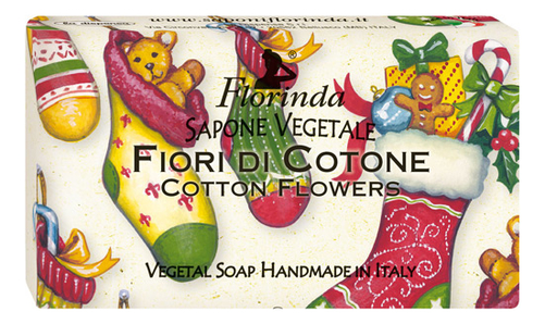 Натуральное мыло Magie Di Natale Fiori Di Cotone 100г недорого