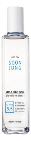 Купить Регенерирующий тонер для лица Soon Jung pH 5.5 Relief Toner: Тонер 180мл, Etude House