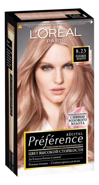 Купить Краска для волос Preference 60мл: 8.23 Розовое золото, L'oreal