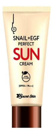 Солнцезащитный крем для лица с экстрактом улитки Snail+EGF Perfect Sun Cream SPF50+ PA+++ 50мл питательный солнцезащитный крем комфорт для лица sun secure invisible finish comfort cream spf50 50мл