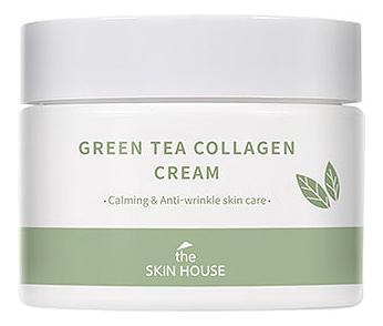 Купить Успокаивающий крем для лица с коллагеном и экстрактом зеленого чая Green Tea Collagen Cream 50мл, The Skin House