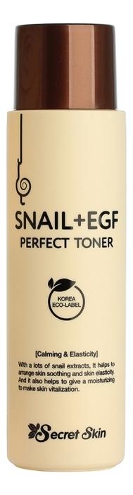 Тонер для лица с экстрактом улитки Snail + EGF Perfect Toner 150мл недорого