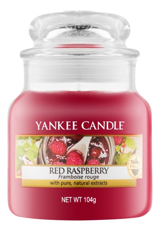 Купить Ароматическая свеча Red Raspberry: Свеча 104г, Yankee Candle