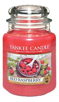 Купить Ароматическая свеча Red Raspberry: Свеча 411г, Yankee Candle