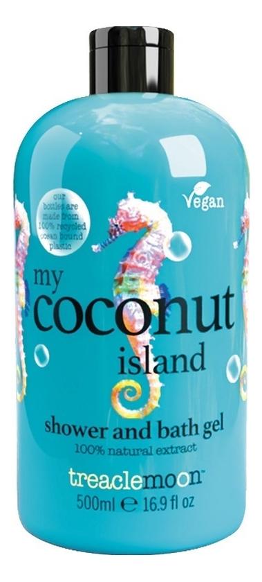 Купить Гель для душа Кокосовый Рай My Coconut Island Shower & Bath Gel: Гель 500мл, Гель для душа Кокосовый Рай My Coconut Island Shower & Bath Gel, Treaclemoon